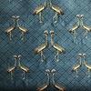 De Stoffenkamer Geweven Canvas Petrolblue Peacock