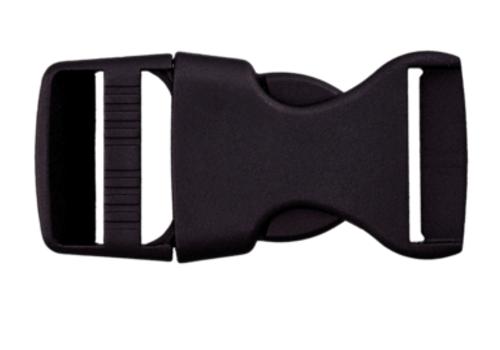 klikgesp zwart 20mm