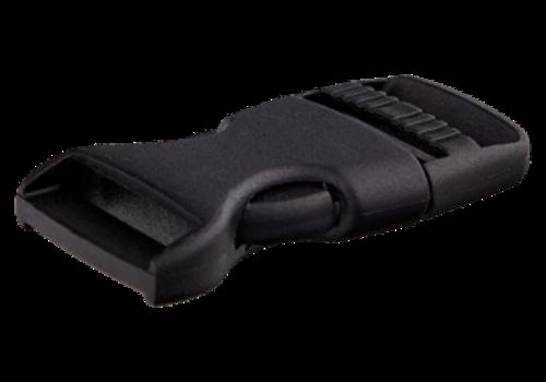 klikgesp zwart 40mm