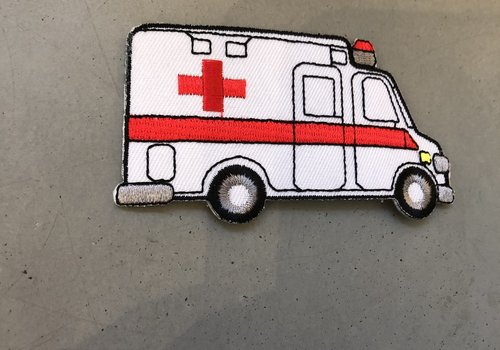 De Stoffenkamer Strijkapplicatie Ambulance