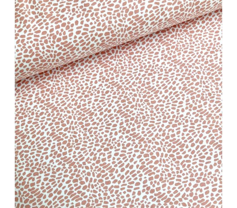 BIO Tricot terrazzo spicks pink