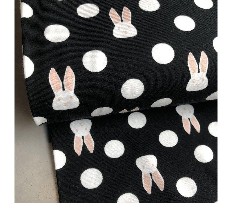 BIO Tricot Black Bunny