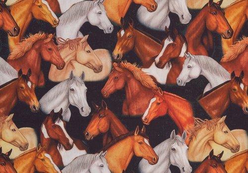 De Stoffenkamer Fine cotton Horses