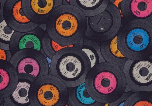 De Stoffenkamer Canvas LP Records