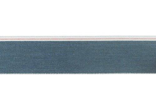 De Stoffenkamer Taille Elastiek 40mm blue denim