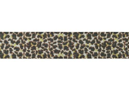 De Stoffenkamer Taille Elastiek 35mm Leopard Lurex
