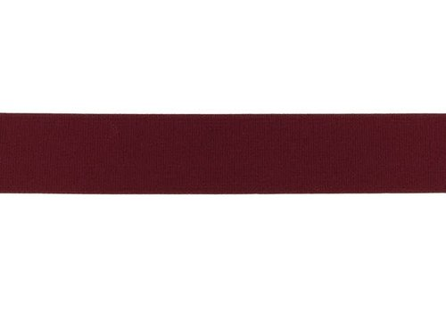 De Stoffenkamer Taille Elastiek 25mm Bordeaux