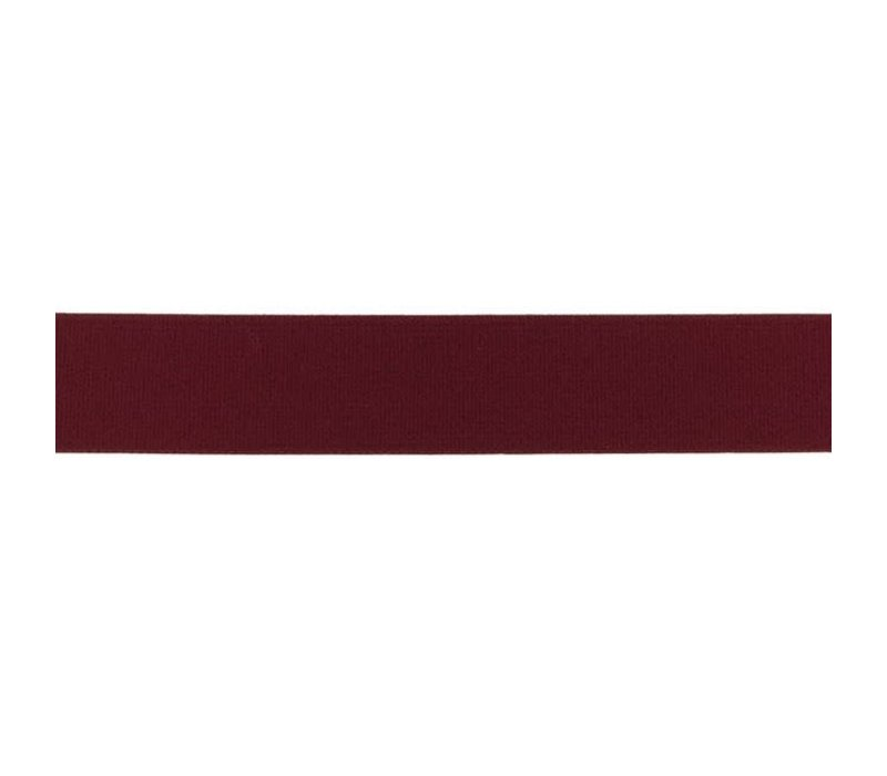 Taille Elastiek 25mm Bordeaux