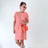 BIO Tricot Ticino dotties pink