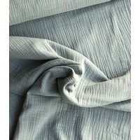 Linen double gauze Minty grey