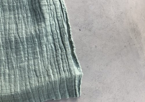 De Stoffenkamer Linen double gauze Minty grey