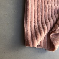 Stretch rib Met Brede Ribbel soft pink