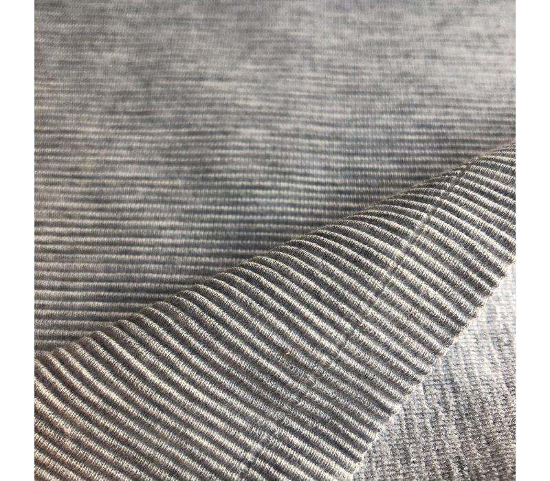Tricot relief lines grey melange