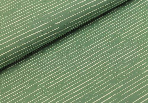 Megan Blue Fabrics Stripes Old Green // white