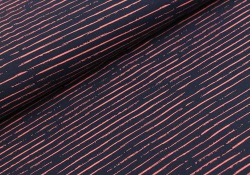 Megan Blue Fabrics Stripes Blue // Pink
