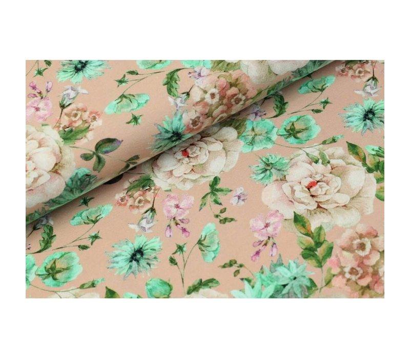 Digital Flowers - old pink