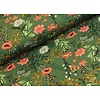 Megan Blue Fabrics Digital Flowers - old Green