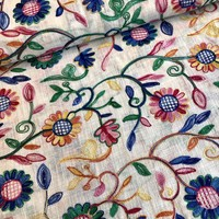 Soft cotton embroidery