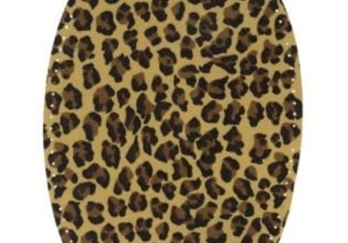 Knie/Elleboog patch Leopard beige
