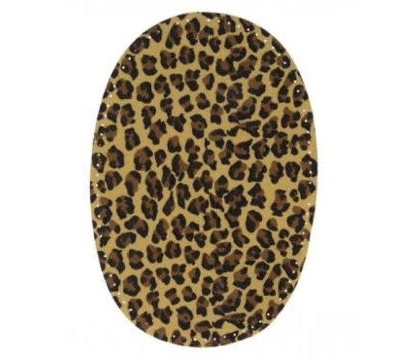 Knie/Elleboog lap Leopard beige