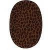 Knie/Elleboog lap Leopard brown