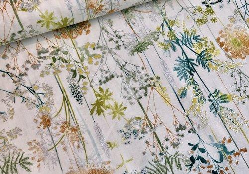 Hoffmann Cotton Flowerfield Metallic