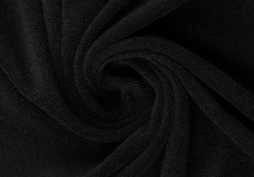 De Stoffenkamer Rekbare badstof - spons zwart