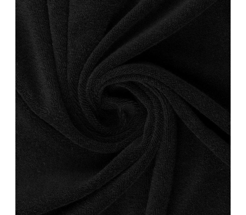 Rekbare badstof - spons zwart