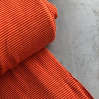 Tricot Small Stripes orange//red