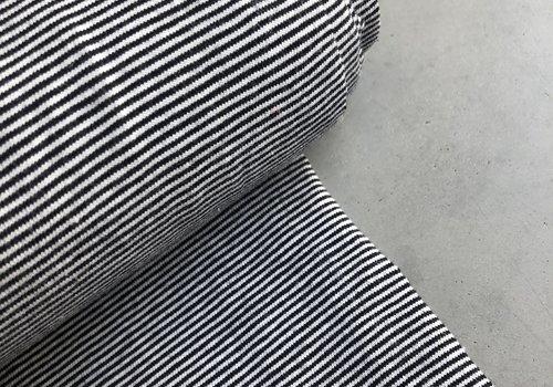 De Stoffenkamer Tricot Small Stripes white//navy