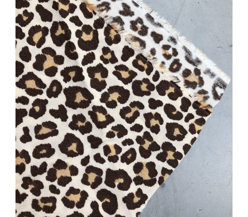 Cotton creme leopard brown