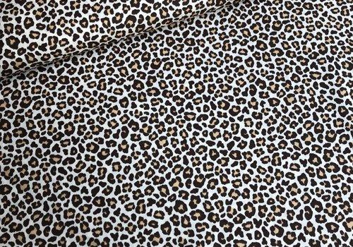 De Stoffenkamer Cotton creme leopard brown