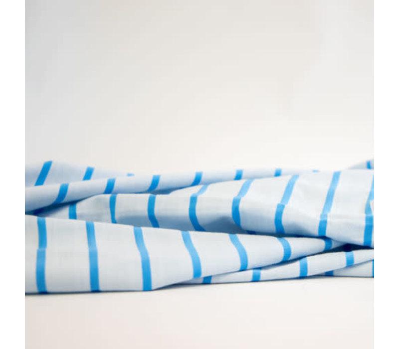 Bio Tricot Stripes Pool tropico azzuro