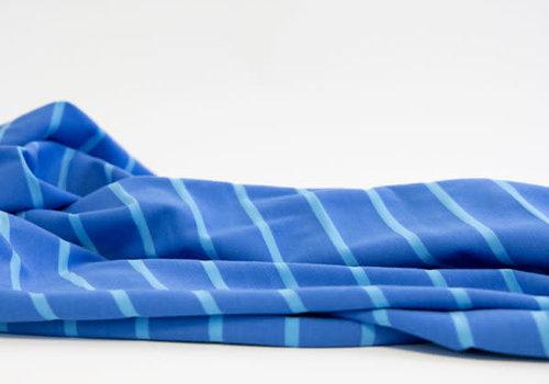 Hello Heidi Bio Tricot Stripes Pool bluette azzuro