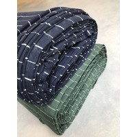 Tencel Tricot Navy Silver
