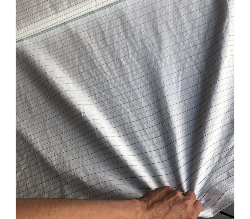 Stretch Viscose white pastel stripes