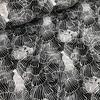 Michael Miller Soft Cotton Black Aquarel leafs