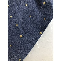 Denim Gold dots
