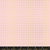 Moda Cotton Ruby Star - grid metallic pink