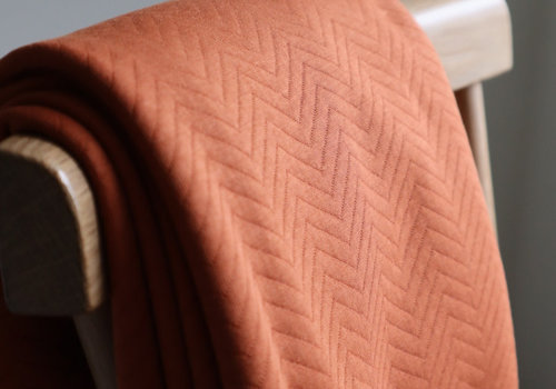 MeterMeter Sweater chevron quilt - rust