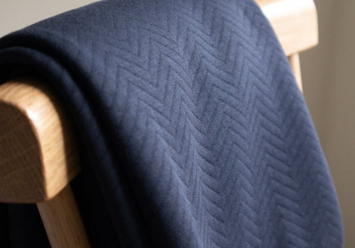 MeterMeter Sweater chevron quilt - dark navy