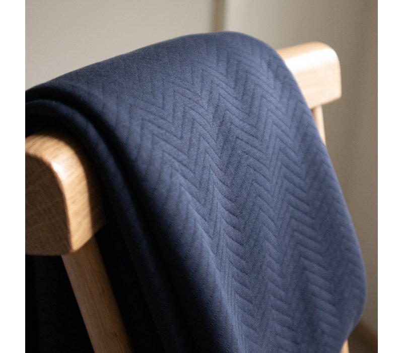Sweater chevron quilt - dark navy