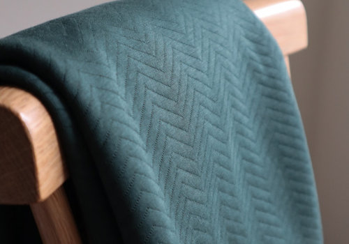 MeterMeter Sweater chevron quilt - deep green