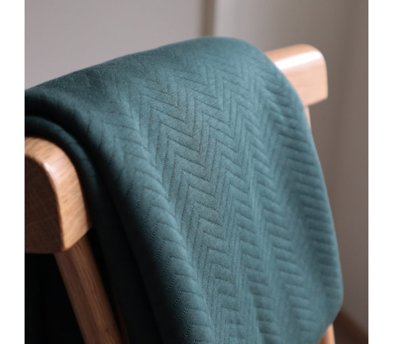Sweater chevron quilt - deep green