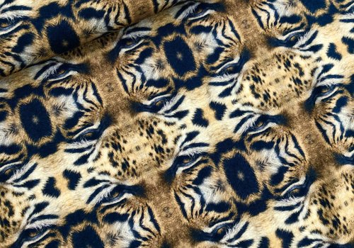 Tricot abstract digital tigers