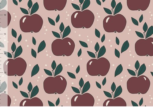 Elvelyckan Tricot Apples Dusty Pink