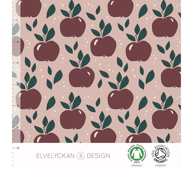 Tricot Apples Dusty Pink