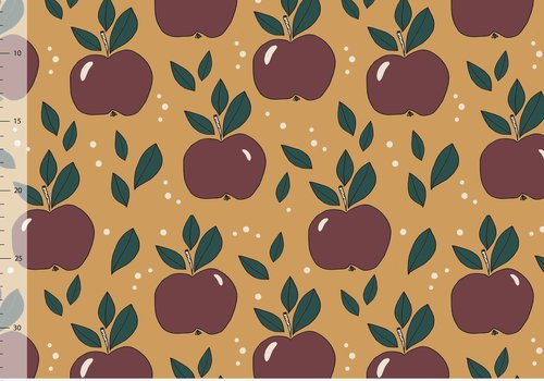 Elvelyckan Tricot Apples Gold