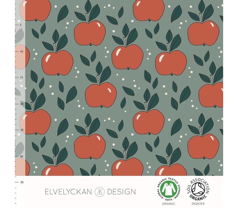 Tricot Apples Dusty Green