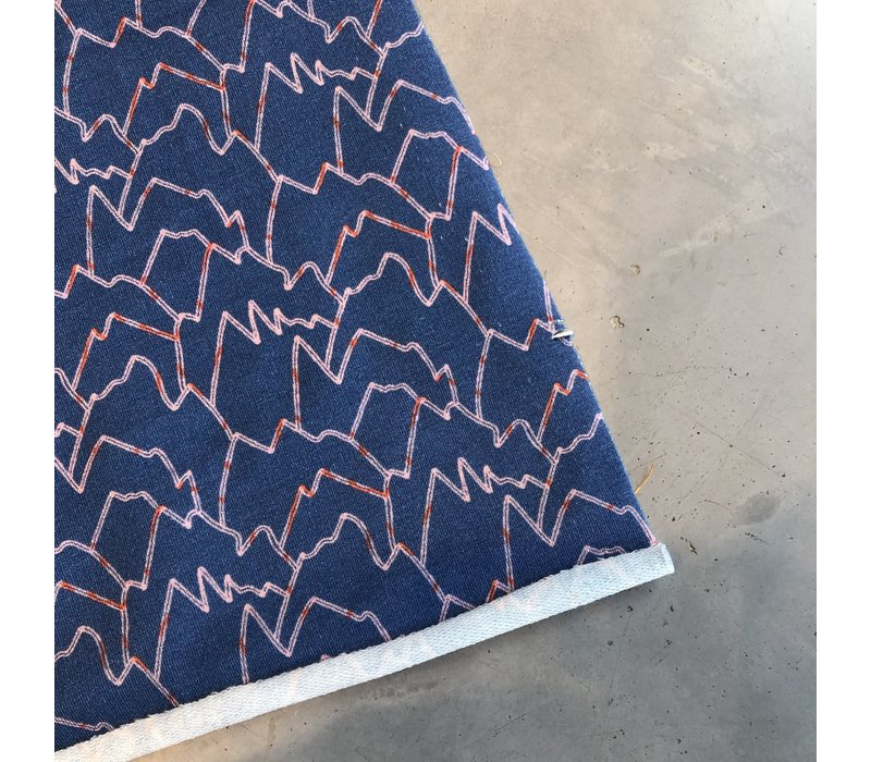 French terry - mountain climber blue
